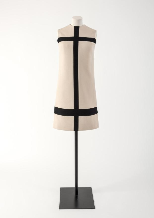 Yves Saint Laurent Mondrian Dress (1965) in cream & navy